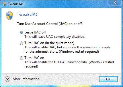 uac - خطاهای وی پی ان VPN